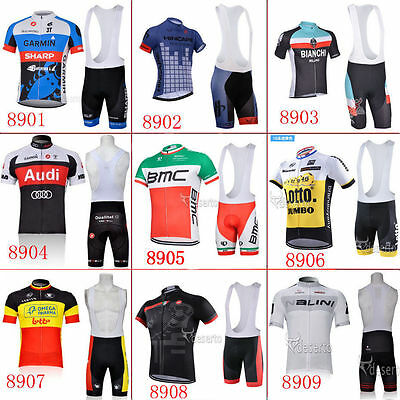 Hot classic Fashion short sleeve Men's team cycling jersey set bib shorts 2015