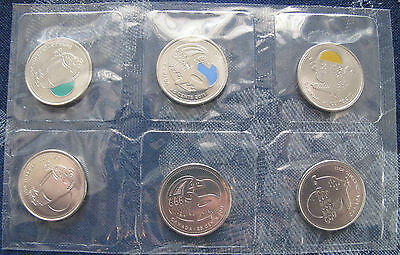 2011 Parks Canada. 6 Quarters Wood Bison, Peregrine Falcon, Orca Whale
