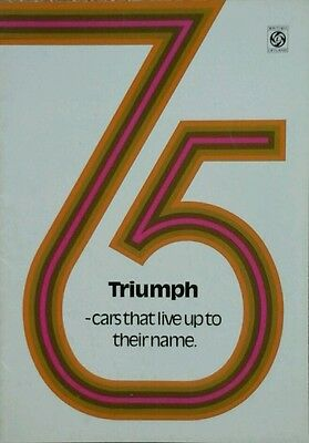 Triumph All Models  Sales Brochure 1974 -  Includes Spitfire, Stag & Sprint