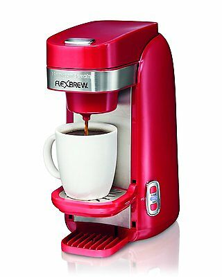 Hamilton-Beach 49960C FlexBrewTM Single Serve Coffee Maker Red
