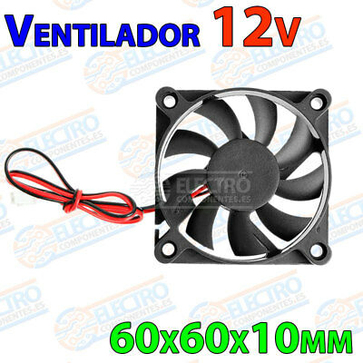 Ventilador 6010 12v Fan 60x60x10 impresora 3D cooler 60mm 10mm brushless