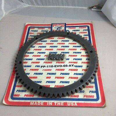 primo starter ring gear 90-93 harley indian chief belt drive only 66t heavy duty