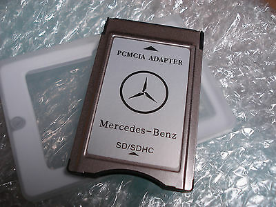 New PCMCIA Adapter SD Card Reader for Mercedes Benz C250 E350 GL450 ML350 S500