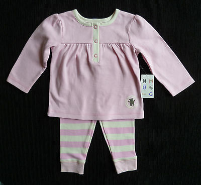 Baby clothes GIRL 6-9m pink/cream Nutmeg dress/leggings NEW! COMBINE POSTAGE!