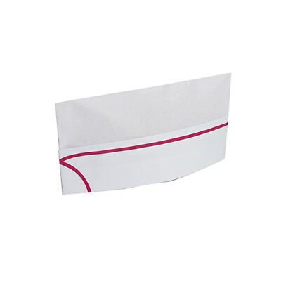 Royal Red Stripe Overseas Disposable Chef's Hats/Caps, Pack of 100, RPOS1A