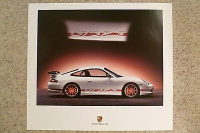 2004 Porsche 911 GT3RS Coupe Showroom Advertising Sales Poster RARE Awesome L@@K