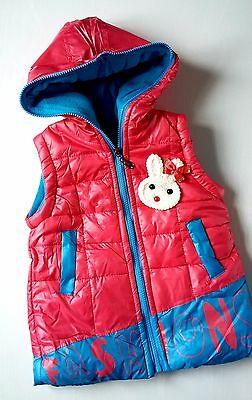 New Girls Quilted Hooded Bodywarmers Gilets Vest 3 Colours Sizes GREAT PRICE