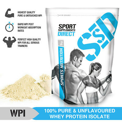 1Kg 100% Whey Protein Isolate Unflavoured - Pure Natural Raw Wpi 1 X 1Kg