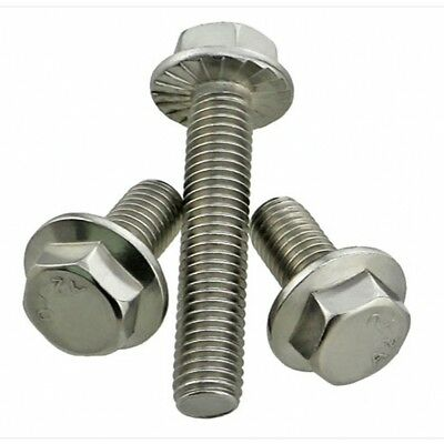 M6 M8 M10 A2-70 304 Stainless Steel Flanged Hex Head Bolts Flange Hexagon Screws