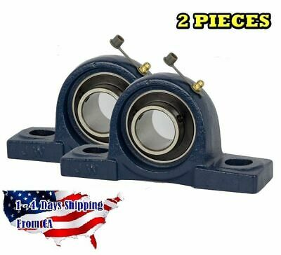 "UCP205-16 Pillow Block Bearing 1"" Bore 2 Bolt Solid Base (2PCS)"