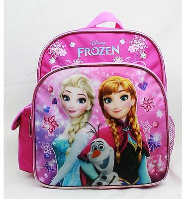 "NWT Disney Frozen Mini 10"" with Elsa & Anna School Backpack Bag Pink Limited"