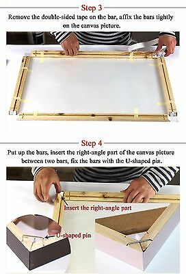 DIY Canvas Art Wood Bar Frames For Stretcher Strips for Gallery Wrapped