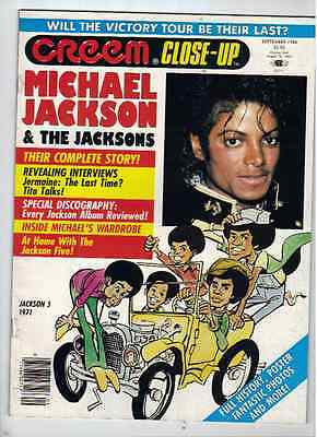 Michael Jackson Creem Close-Up Magazine From September 1984