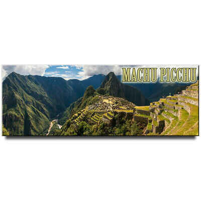 Fridge magnet with panoramic view of Machu Picchu,  Cusco Region, Peru