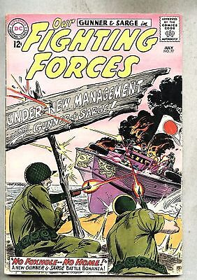Our Fighting Forces #77-1963  Kubert / Gunner & Sarge gd+