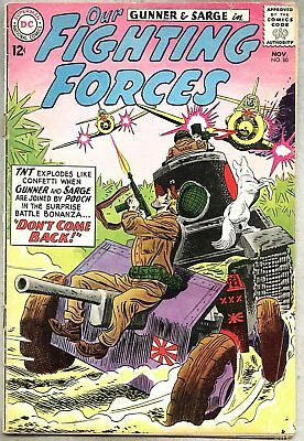 Our Fighting Forces #80-1963 gd+ Abel / Gunner & Sarge