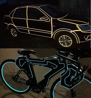 Reflective tape on the car shining ribbon on a motorcycle or bicycle, for beauty
