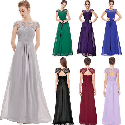 Long Maxi Evening Bridesmaid Formal Party Ball Prom Dress Gown AU Sizes 6 -20