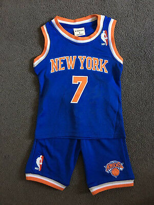 Baby Kids NBA Basketball Jersey Top Short Set New York - Anthony #7