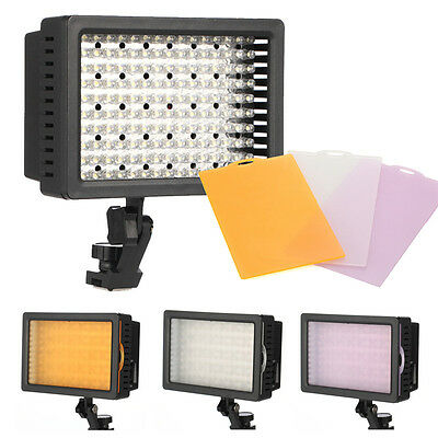 160 LED Video Light Lamp Lighting For Canon Nikon Pentax DSLR Camera Camcorder