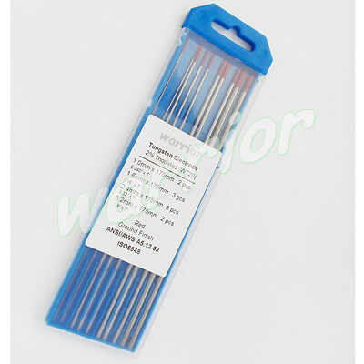 """WT20 2% Thoriated Tungsten Electrodes Ground Finish Mixed 7"""" Kit For TIG Welding"""