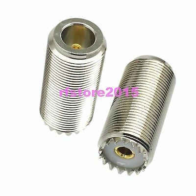 10pc Adapter Connector UHF SO239 female to N female Bulkhead for Vehicle antenna
