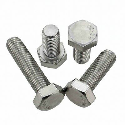 M8 x 25 HEX TAP BOLTS LEFT HAND THREADED HEX HEAD CAP SCREWS A2 STAINLESS QTY 2