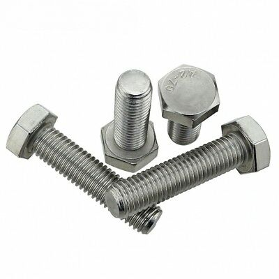 M8 x 20 HEX TAP BOLTS LEFT HAND THREADED HEX HEAD CAP SCREWS A2 STAINLESS QTY 2