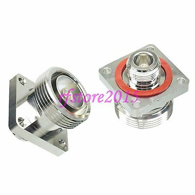 10pcs Adapter Connector 7/16 DIN female to N female Flange for Communication