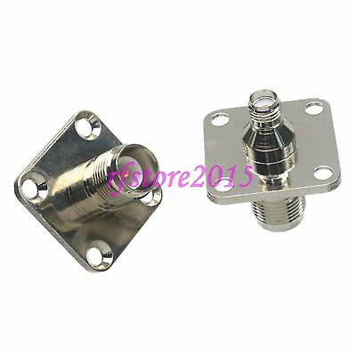 10pcs Adapter Connector RP-TNC to SMA 4-holes Flange for Wireless WiFi