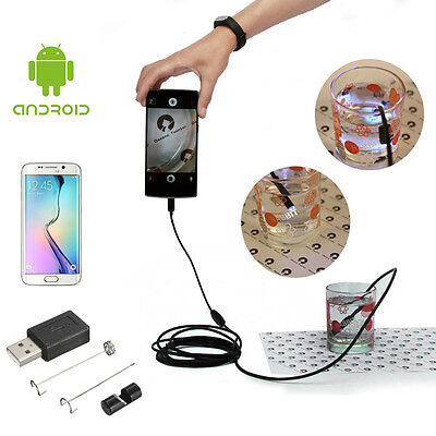 5.5/7mm Lens Endoscope Inspection Borescope Tube LED Camera For Android Phone PC