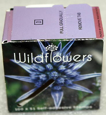 NO STAMPS AUSTRALIA POST TOURIST WILDFLOWERS 100 x $1 SEALED UNOPENED EMPTY BOX!