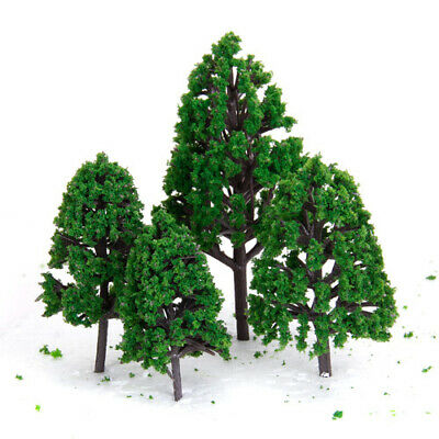 Plastic Model Trees for Train Railroad Forest Scenery 1:50 Scale Pack of 22pcs