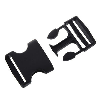 """5X 1 1/2"""" Replacement Belt Connecting Black Plastic Quick Release Buckle WS"""