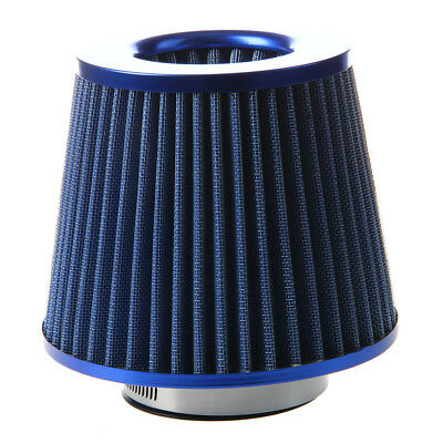 Universal Car Air Filter Induction Kit High Power Mesh Blue Finish Sport PK