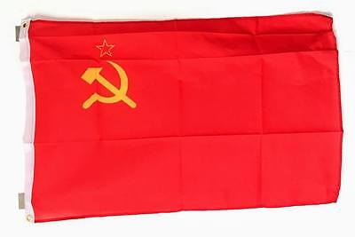 USSR Union Soviet Flags 3ft x 2ft  (60 x 90 cm) 100% Woven Polyester