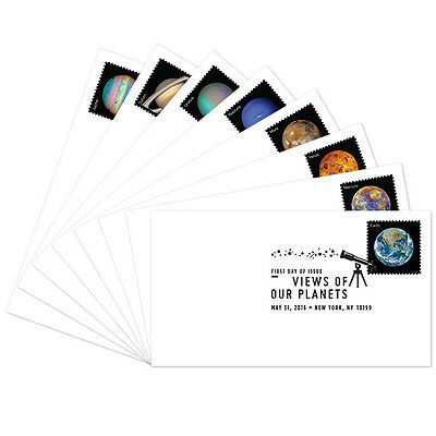 USPS New Views of Our Planets FDC set of 8