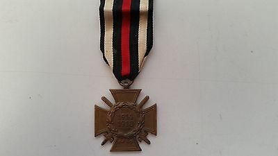 WW1 Hindenburg Military Cross Marked Medal Badge 1914-1918 War