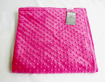 Bebe Bella Designs Pink Minky Blanket New 29 X 30 inch