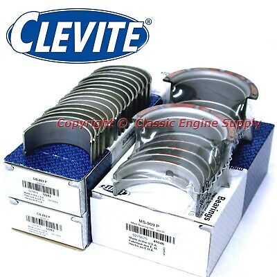"New Clevite .010"" Under Rod & Main Bearing Set Chevy 350 327 307 305 302 267 265"