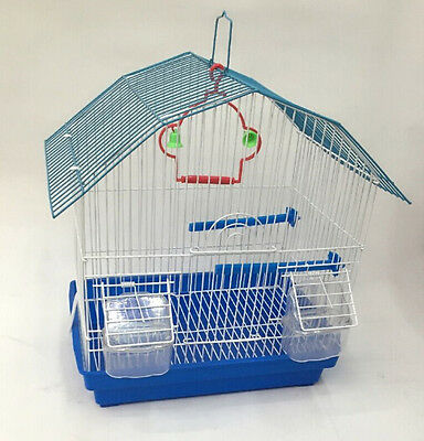 PYAMIDL ROOF CAGES BUDGIE FINCH BIRD CAGE 33.5x24x38CM BUDGIES CANARY HOME PET