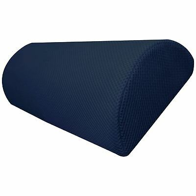 Half Moon Memory Foam Roll Cushion Bed Back Neck Leg Knee Suppport Pillow Blue