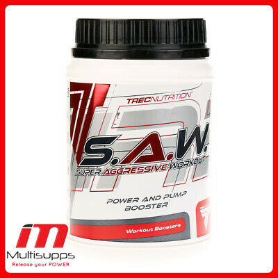 Trec Nutrition S.A.W Power pump booster saw Pre-workout 200g 400g l-arginine
