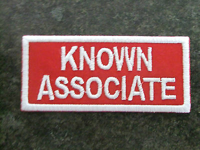 Hells Angels CaveCreek Known Associate Patch (white on red)