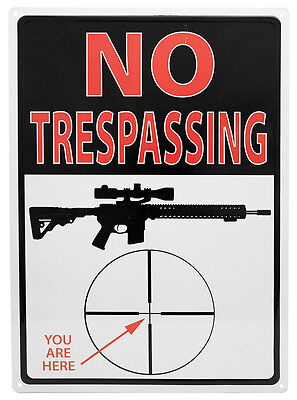 """No Tresspassing YOU ARE HERE"" Hunting Humor Camping AR-15 Sign Outdoor/Indoor"