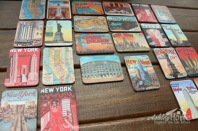 Set of 24 United States New York City Multi-Scenes Art Paper Fridge Magnets GIFT