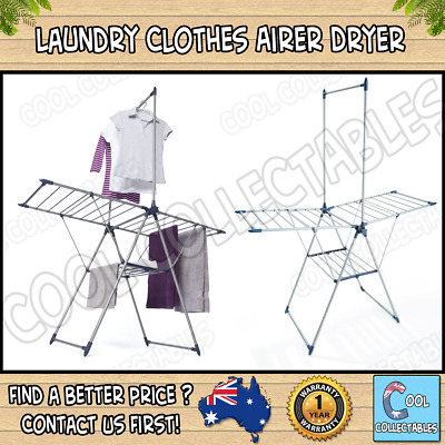 Laundry Clothes Airer Dryer  Portable Indoor Clothesline Drying Hanger Line Rack