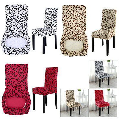 2/4/6pcs Slip Cover Removable Stretch Slipcovers Dining Lycra Spandex Chair Seat