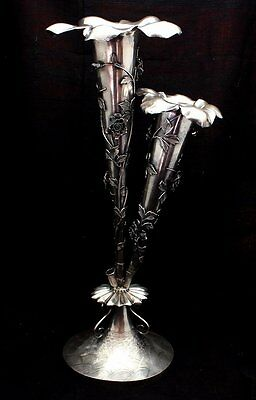 Fine Antique Chinese Silver Table Centerpiece Epergne Marked