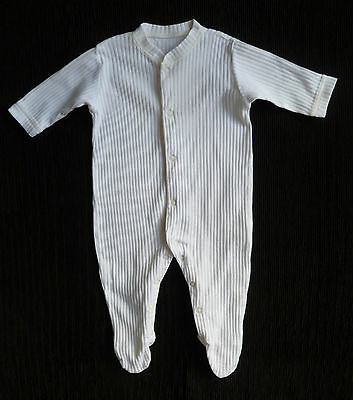 Baby clothes BOY GIRL 3-6m  white George soft cotton ribbed babygrow SEE SHOP!